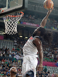 06.09.2014, City Arena, Barcelona, ESP, FIBA WM, USA vs Mexiko, im Bild USA's Kenneth Faried // during FIBA Basketball World Cup Spain 2014 match between USA and Mexico at the City Arena in Barcelona, Spain on 2014/09/06. EXPA Pictures © 2014, PhotoCredit: EXPA/ Alterphotos/ Acero<br /> <br /> *****ATTENTION - OUT of ESP, SUI*****