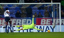 Sammy Ameobi of Bolton Wanderers scores a goal past Luke Steele of Bristol City to make it 1-0 - Mandatory by-line: Robbie Stephenson/JMP - 02/02/2018 - FOOTBALL - Macron Stadium - Bolton, England - Bolton Wanderers v Bristol City - Sky Bet Championship