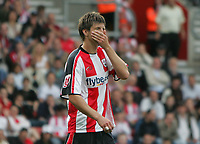 Photo: Lee Earle.<br /> Southampton v Queens Park Rangers. Coca Cola Championship. 30/09/2006. Southampton's Grzegorz Rasiak looks gutted after failing to score.