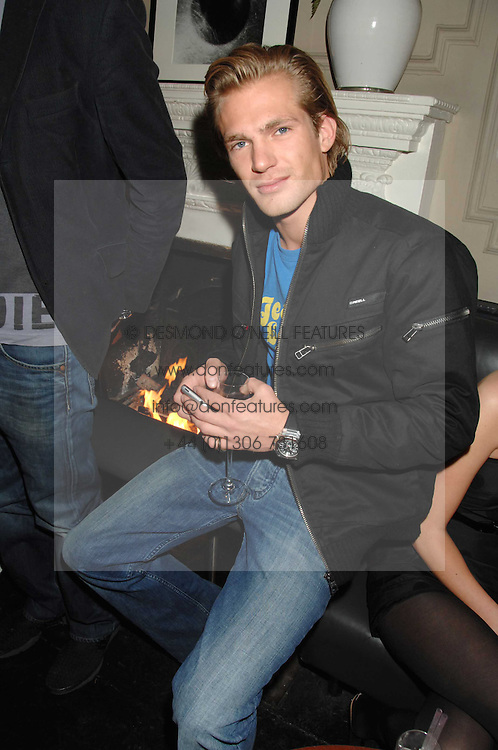 JACOBI ANSTRUTHER-GOUGH-CALTHORPE at a leaving party for Poppy Delevigne who is going to New York to persue a career as an actress, held at Chloe, Cromwell Road, London on 25th January 2007.<br />