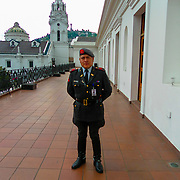 Security guard at the presidential palace Quito Ecuador.