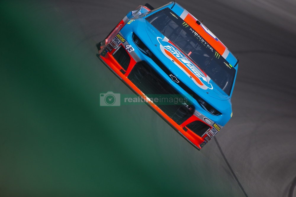 July 13, 2018 - Sparta, Kentucky, United States of America - Darrell Wallace, Jr (43) practices for the Quaker State 400 at Kentucky Speedway in Sparta, Kentucky. (Credit Image: © Stephen A. Arce/ASP via ZUMA Wire)