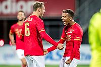 ALKMAAR - 12-09-2017, Jong AZ - Telstar, AFAS Stadion, 2-2, Jong AZ speler Teun Koopmeiners, Jong AZ speler Owen Wijndal