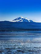 Mt. Baker across Bellingham Bay, Bellingham, Washington, Pacific Northwest, USA.