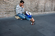 Beggar with a deformed foot, Vatican City, Rome, Italy