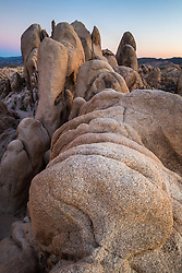 Rock formations at White Tank, Joshua Tree National Park, California, USA.