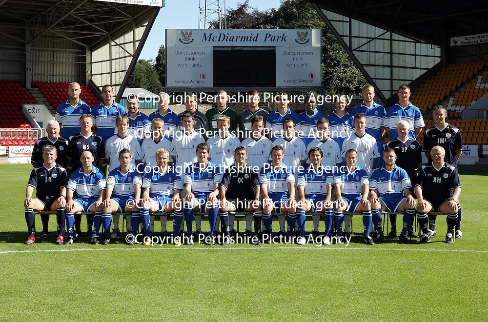 St Johnstone FC Squad 2006-2007<br />