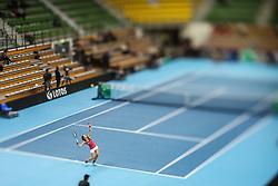 February 7, 2019 - Zielona Gora, Poland - Johanna Larsson (SWE) during Tennis 2019 Fed Cup by Paribas Europe/Africa Zone Group 1  match between Sweden and Estonia in Zielona Gora, Poland, on February 7, 2019. (Credit Image: © Foto Olimpik/NurPhoto via ZUMA Press)