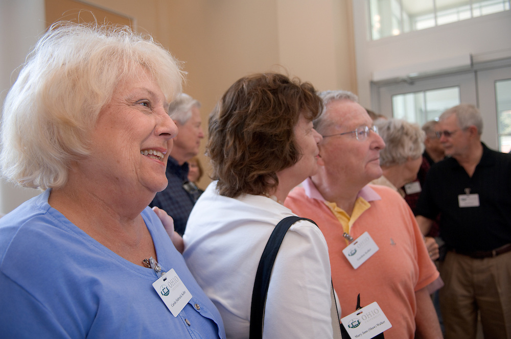 18660Golden Reunion, class of 1958: Tour of Baker Center....Carole Keller, Mary Jane Walker, Gordon Keller