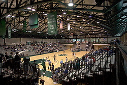 10 January 2009: Photo Illustration (High Dynamic Range) image of pay on the basketball court inside the Shirk Center. The Lady Titans of Illinois Wesleyan University downed the and Lady Thunder of Wheaton College by a score of 101 - 57 in the Shirk Center on the Illinois Wesleyan Campus in Bloomington Illinois.