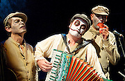 THE TIGER LILLIES: RIME OF THE ANCIENT MARINER<br /> Queen Elizabeth Hall<br /> Southbank, London, Great Britain <br /> press photocall<br /> 5th September 2013 <br /> <br /> The Tiger Lilies<br /> <br /> Martyn Jacques, Adrian Huge, Adrian Stout<br /> <br /> <br /> <br /> <br /> <br /> Photograph by Elliott Franks