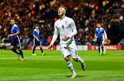 Cauley Woodrow of England U21 reacts after missing a chance - Mandatory byline: Matt McNulty/JMP - 07966386802 - 03/09/2015 - FOOTBALL - Deepdale Stadium -Preston,England - England U21 v USA U23 - U21 International