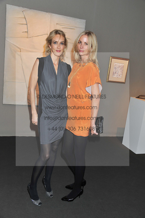 PAD London 2012 held in Berkeley Square, London on 10th October 2012.<br /> Picture shows:-Left to right, SARAH WOODHEAD and KATE DRIVER.