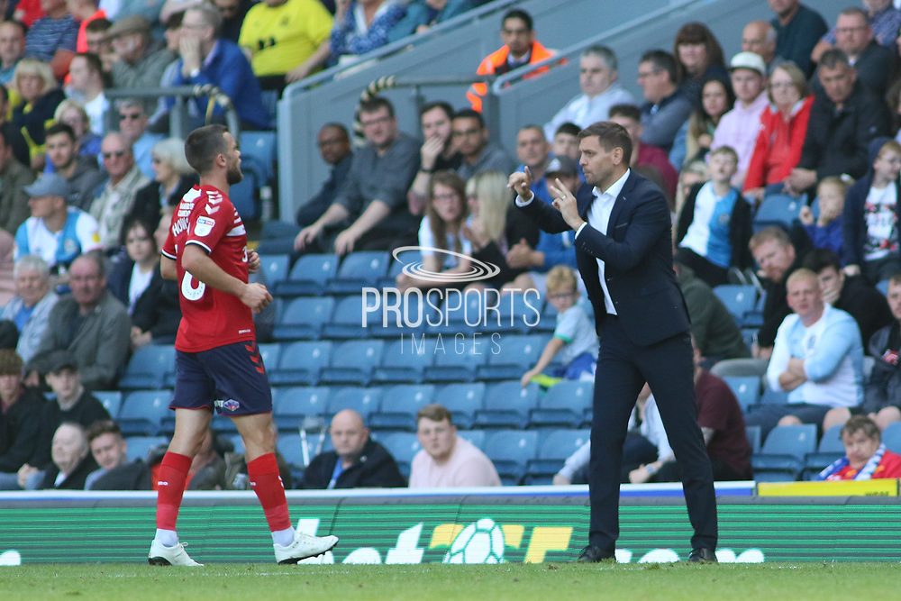Middlesbrough's Jonathan Woodgate during the EFL Sky Bet Championship match between Blackburn Rovers and Middlesbrough at Ewood Park, Blackburn, England on 17 August 2019.