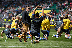 Bath Head Coach Mike Ford looks on during the warm up - Photo mandatory by-line: Rogan Thomson/JMP - 07966 386802 - 30/05/2015 - SPORT - RUGBY UNION - London, England - Twickenham Stadium - Bath Rugby v Saracens - 2015 Aviva Premiership Final.
