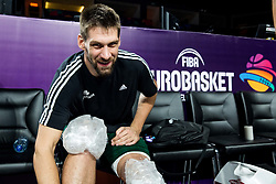 Gasper Vidmar of Slovenia at practice session of Team Slovenia 1 day before final match against Serbia at Day 17 of FIBA EuroBasket 2017 at Sinan Erdem Dome in Istanbul, Turkey on September 16, 2017. Photo by Vid Ponikvar / Sportida