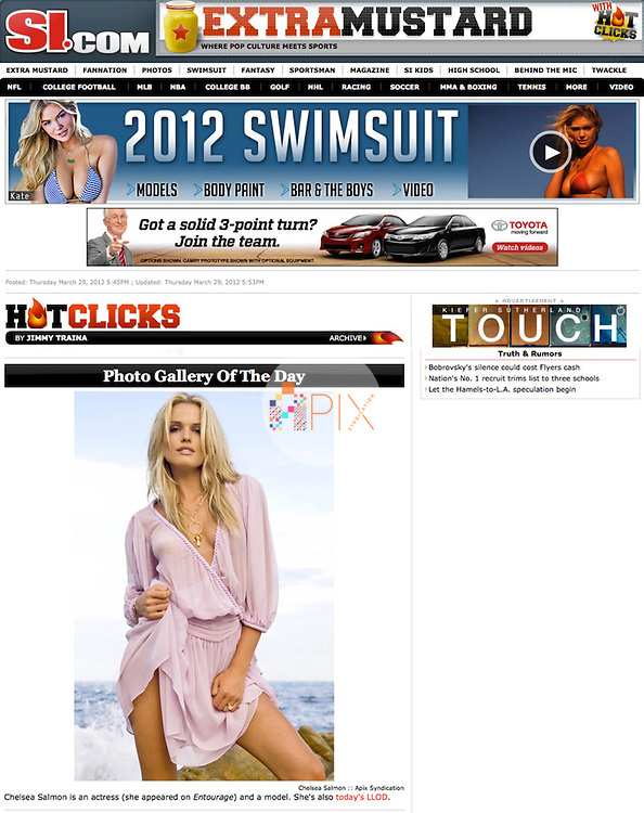 Chelsea Salmon is the latest Lovely Lady of the Day on the Sports Illustrated website.  <br /> <br /> Image from our shoot 'Chelsea Salmon': http://www.apixsyndication.com/gallery/Chelsea-Salmon/G00001yO5XNT0a7g/C0000hzD9OqA0Ihs
