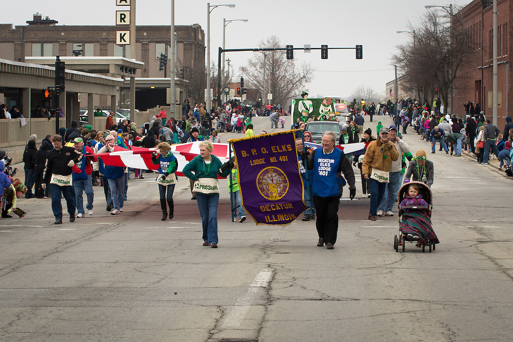 St. Patricks Day Parade at Downtown , Decatur, Illinois, March 15, 2013. Photo: George Strohl