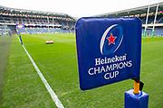 General view inside the BT Murayfield Stadium, Edinburgh, Scotland before the Heineken Champions Cup quarter-final match between Edinburgh Rugby and Munster Rugby on 30 March 2019.