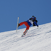 in action during the Freeski Slopestyle Men's Final at Snow Park, New Zealand during the Winter Games. Wanaka, New Zealand, 18th August 2011. Photo Tim Clayton