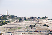 Israel, Jerusalem, Mount of Olives as seen from the Old City