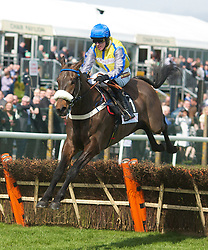 LIVERPOOL, ENGLAND - Thursday, April 8, 2010: Al Qeddaaf ridden by Jason Maguire during the opening day of the Grand National Festival at Aintree Racecourse. (Pic by David Tickle/Propaganda)
