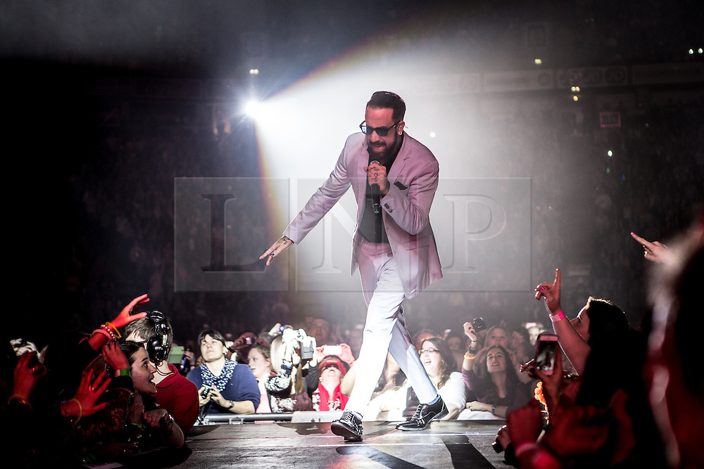 © Licensed to London News Pictures . 05/04/2014 . Manchester , UK . A J McLean . The Backstreet Boys play at the Phones4U Arena in Manchester this evening (Saturday 5th April 2014) . Photo credit : Joel Goodman/LNP