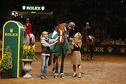 Michaels-Beerbaum Meredith (GER) - Shutterfly<br /> HRH Haya<br /> World Cup Final - Göteborg 2008<br /> Photo© Hippo Foto