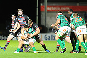 Edinburgh piles on the pressure during the Guinness Pro 14 2017_18 match between Edinburgh Rugby and Benetton Treviso at Myreside Stadium, Edinburgh, Scotland on 15 September 2017. Photo by Kevin Murray.