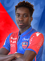 Fousseni Diabate during photoshooting of Gazelec Ajaccio for new season 2017/2018 on September 26, 2017 in Ajaccio<br /> Photo : Gfca / Icon Sport