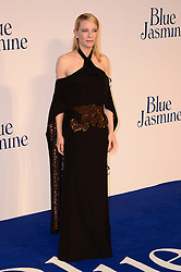 Cate Blanchett nominated  best leading actress for the Oscars 2014.<br /> Blue Jasmine - UK film premiere. <br /> Cate Blanchett arrives for the Blue Jasmine film premiere, Odeon, London, United Kingdom. Tuesday, 17th September 2013. Picture by Nils Jorgensen / i-Images