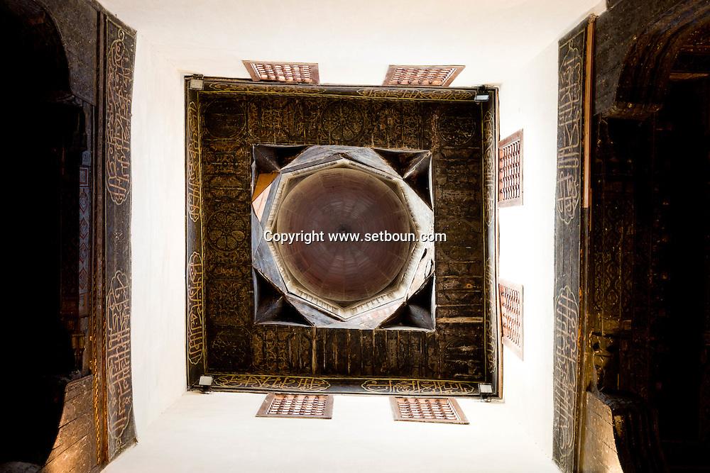 Egypt . Cairo : house of Gama li din al Dahabi- Nm72 - seventeenth century mamluk style.  Islamic Cairo -   Cairo +