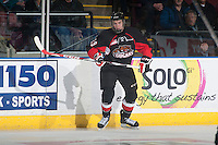 KELOWNA, CANADA - JANUARY 3: Ethan O'Rourke #29 of the Prince George Cougars skates against the Kelowna Rockets on January 3, 2015 at Prospera Place in Kelowna, British Columbia, Canada.  (Photo by Marissa Baecker/Shoot the Breeze)  *** Local Caption *** Ethan O'Rourke;