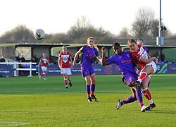 Ella Rutherford of Bristol City over powers Satara Murray of Liverpool Women - Mandatory by-line: Paul Knight/JMP - 17/11/2018 - FOOTBALL - Stoke Gifford Stadium - Bristol, England - Bristol City Women v Liverpool Women - FA Women's Super League 1
