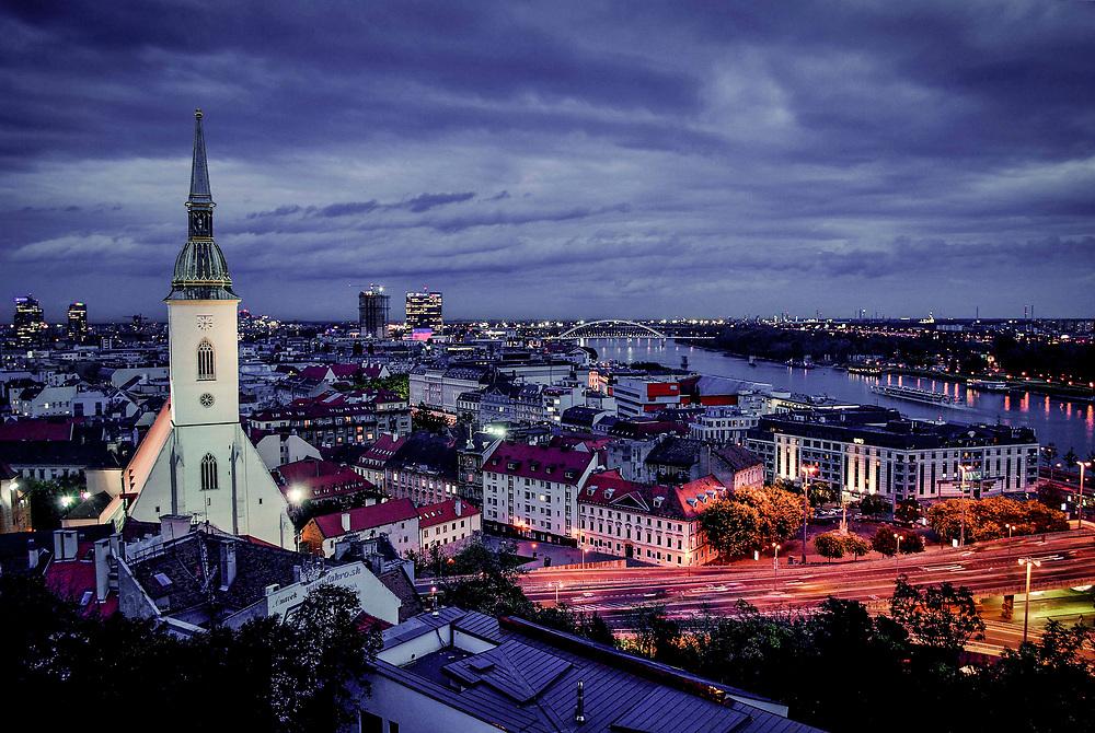 Bratislava, Slovakia at night