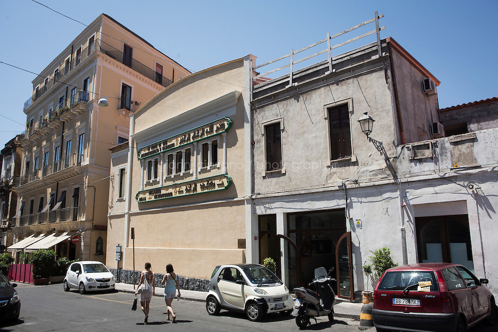CATANIA, ITALY - 27 JULY 2015: The mosque of Catania, where some migrants (especially Syrian families) receive assistance for a few days after their arrival in Sicily, Sicily, Italy, on July 27th 2015.