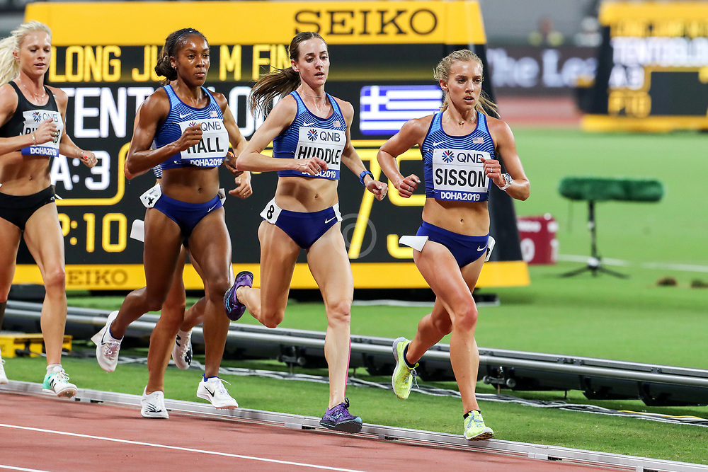 2019 IAAF World Athletics Championships held in Doha, Qatar from September 27- October 6<br /> Day 2<br /> USA womens 10000