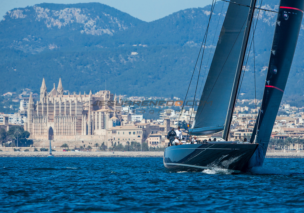 "J Class ""Svea"" sea trials in Palma  March 2017"