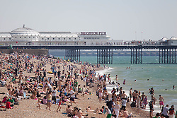 © under license to London News Pictures. 11/08/12. As temperatures rise this weekend, it will be a dry sunny day with temperatures reaching 24C... Brighton beach. Xavier Itter/LNP
