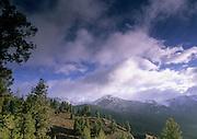 Sunlight, Clouds, Sunrise, Galena Pass, Sun Valley, Idaho