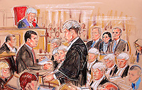 COPYRIGHT PRISCILLA COLEMAN ITV ARTIST 13.03.03..PIC SHOWS; DS IAN WILLIAMSON GIVING EVIDENCE IN THE TRIAL OF MAJOR CHARLES AND DIANA INGRAM AND TECWEN WHITTOCK. THEY ARE ON TRIAL FOR DEFRAUDING TV PROGRAMME WHO WANTS TO BE A MILLIONNAIRE...SUPPLIED BY PHOTONEWS SERVICE LTD OLD BAILEY