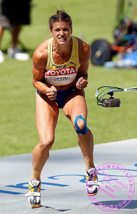 BERLIN 15/08/2009.12th IAAF World Championships in Athletics Berlin 2009.Heptathlon - High Jump Women.Nadja Casadei of Sweden ..Phot: Piotr Hawalej / WROFOTO
