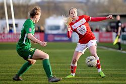 Poppy Pattinson of Bristol City is competes with Charlotte Buxton of Yeovil Town Ladies- Mandatory by-line: Nizaam Jones/JMP - 27/01/2019 - FOOTBALL - Stoke Gifford Stadium - Bristol, England - Bristol City Women v Yeovil Town Ladies- FA Women's Super League 1