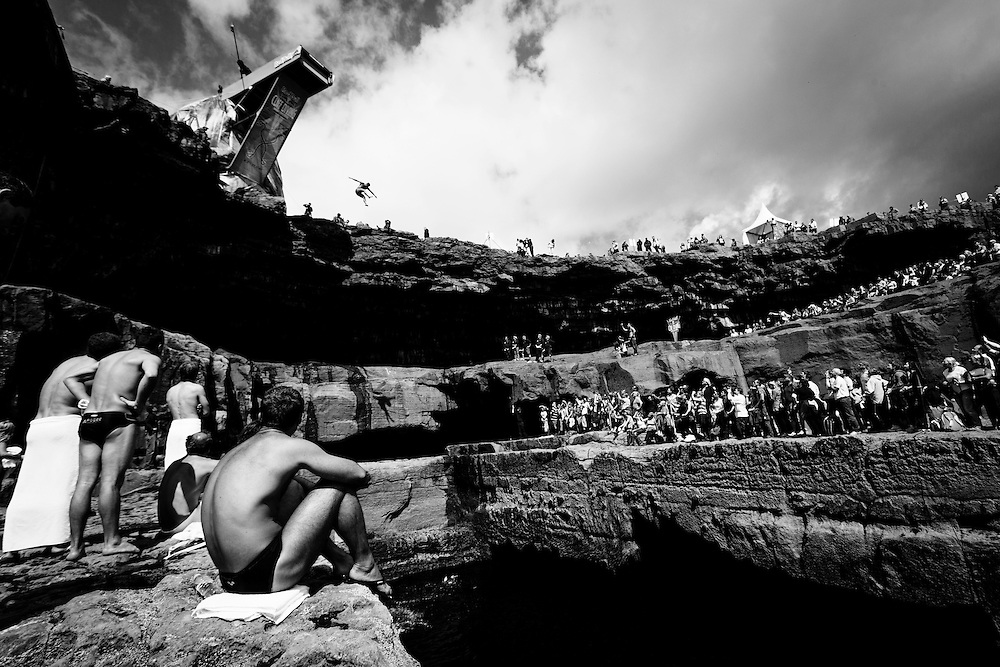 The Red Bull Cliff Diving World Series 2012, Inis Mor, Ireland. 04 August 2012