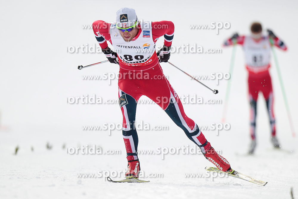 27.02.2013, Langlaufstadion, Lago di Tesero, ITA, FIS Weltmeisterschaften Ski Nordisch, Langlauf Herren,15 Km Auf Freier Technik mit Zeitmesser, im Bild Petter Jr. Northug (NOR) // Petter Jr. Northug of Norway during the Men Cross Country 10Km Free Individual of the FIS Nordic Ski World Championships 2013 at the Cross Country Stadium, Lago di Tesero, Italy on 2013/02/27. EXPA Pictures ©  2013, PhotoCredit: EXPA/ Federico Modica