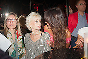 SALLY FARMILOE; LIZZIE CUNDY,  My Left Boob: A Cancer Diary by Sally Farmiloe-Neville , Sally Farmiloe - book launch party, Angels, 201 Wardour Street, London, W1F 8ZH