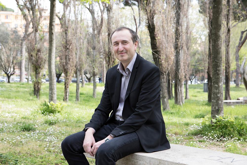 Rome, Italy, April 1, 2017. Raffaele Carcano, 51, born in Magenta, has lived in Rome for 13 years. <br /><br />Roma, Italia, 1 Aprile 2017. Raffaele Carcano, 51 anni, nato a Magenta, vive a Roma da 13 anni.