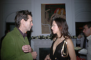 Oliver Peyton and Sophie Hunter. Olga Polizzi and Rocco Forte host a party to celebrate the re-opening of Brown's Hotel  after a  £19 million renovation. Albermarle St. London. 12 December 2005. ONE TIME USE ONLY - DO NOT ARCHIVE  © Copyright Photograph by Dafydd Jones 66 Stockwell Park Rd. London SW9 0DA Tel 020 7733 0108 www.dafjones.com
