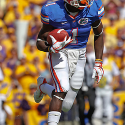 October 8, 2011; Baton Rouge, LA, USA;  Florida Gators running back Chris Rainey (1) against the LSU Tigers during the first quarter at Tiger Stadium.  Mandatory Credit: Derick E. Hingle-US PRESSWIRE / © Derick E. Hingle 2011