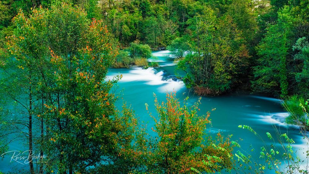 Cascades and fall color along the Mrežnica River, Croatia